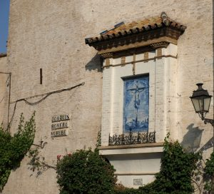 El azulejo del Cristo de las Misericordias, de la Plaza de la Alianza