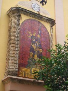 El azulejo del Cristo de las Tres Caídas, de la Parroquia de San Isidoro