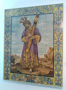 El azulejo del Señor del Gran Poder, del Museo de la Cerámica de Triana