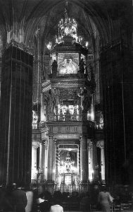 El monumento al Santísimo de la Catedral