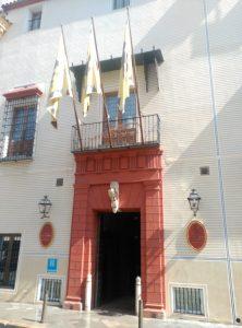 Las banderas del Hotel Las Casas de la Judería