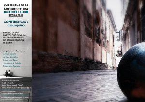 """Conferencia """"Barrio de San Bartolomé. Sevilla. Un modelo integral de rehabilitación urbana"""""""