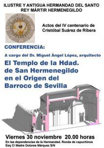 """Conferencia """"El templo de la Hermandad de San Hermenegildo en el origen barroco de Sevilla"""""""