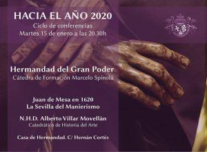 """Conferencia """"Juan de Mesa en 1620. La Sevilla del Manierismo"""""""