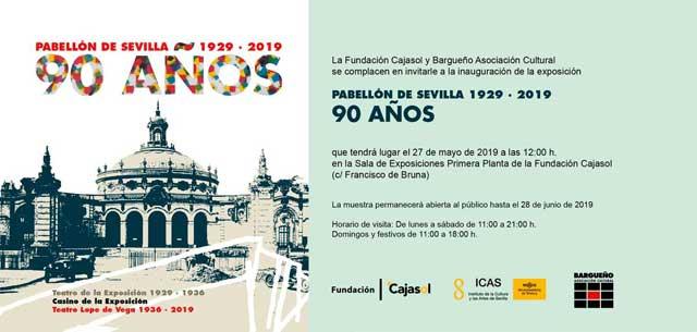 """Exposición """"Pabellón de Sevilla 1929-2019, 90 años"""""""