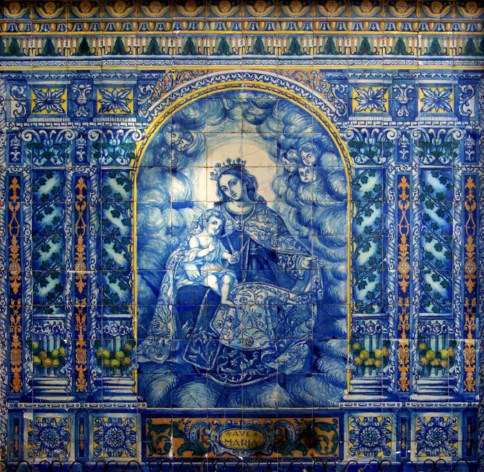 El retablo cerámico de la Virgen del Carmen, en San Antonio Abad