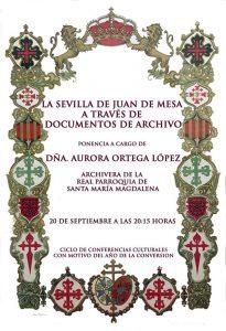 """Conferencia """"La Sevilla de Juan de Mesa a través de documentos de archivo"""""""