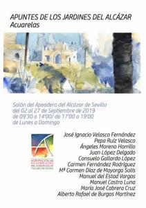 """Exposición """"Apuntes de los jardines del Alcázar"""""""