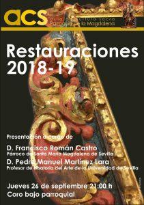 Presentación de las restauraciones de la Parroquia de la Magdalena 2018-2019