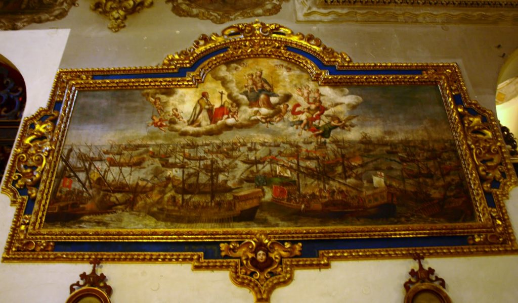 El cuadro de la Batalla de Lepanto, de la Parroquia de la Magdalena