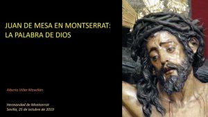 """Conferencia """"Juan de Mesa en Montserrat: La Palabra de Dios"""""""