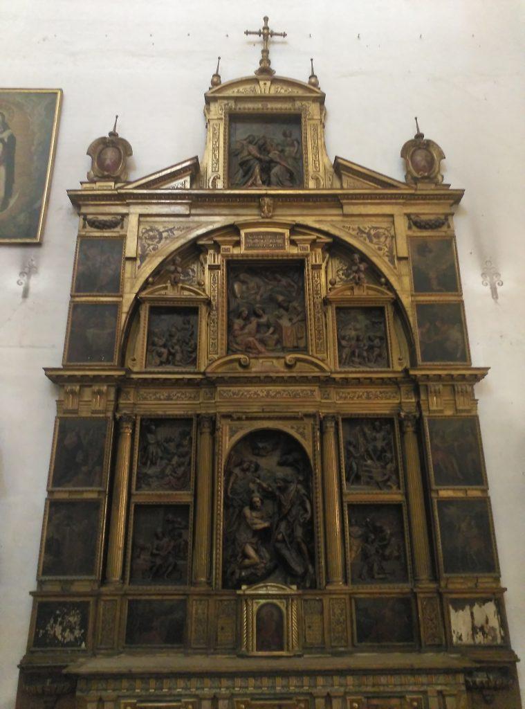 El retablo de San Juan Bautista de la Iglesia de la Anunciación