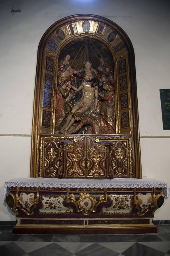 El retablo del Descendimiento de la Parroquia de San Vicente
