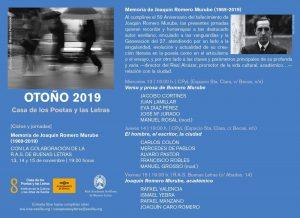 "Ciclo de jornadas ""Memoria de Joaquín Romero Murube"""
