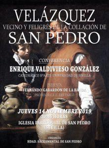 """Conferencia """"Velázquez, vecino y feligrés de la collación de San Pedro"""""""