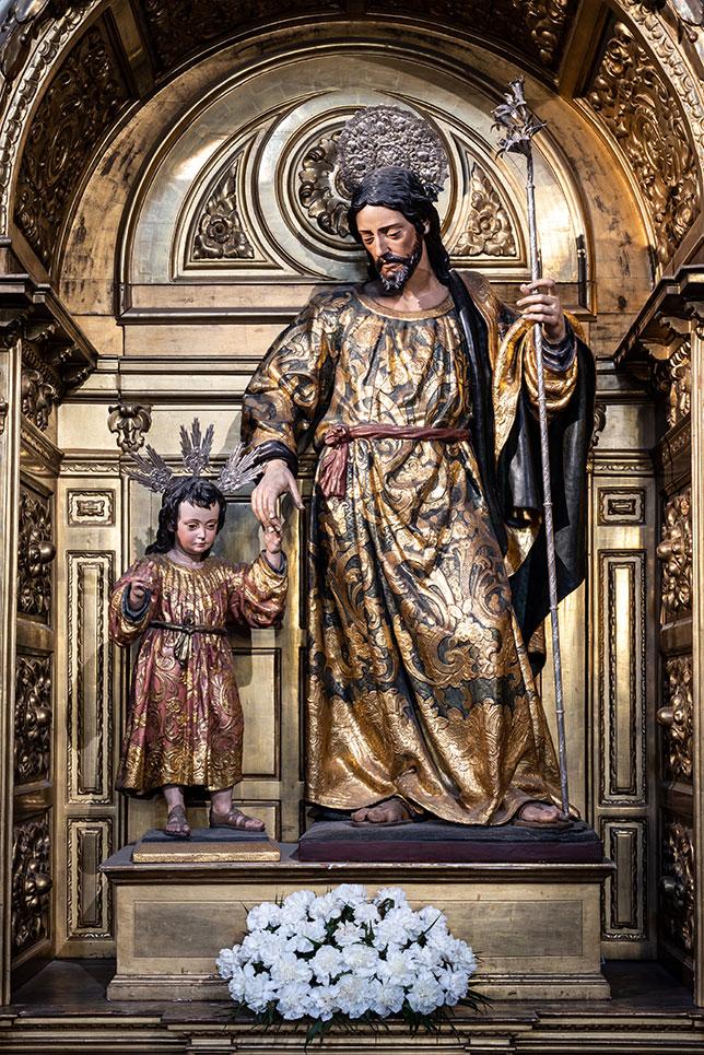 San José con el Niño de la Parroquia de la Magdalena