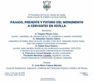"""Mesa redonda """"Pasado, presente y futuro del monumento a Cervantes en Sevilla"""""""