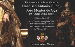 """Conferencia """"Fundamentos de la escultura de Francisco Antonio Gijón y José Montes de Oca"""""""