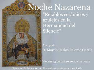 """Conferencia """"Retablos cerámicos y azulejos en la Hermandad del Silencio"""""""