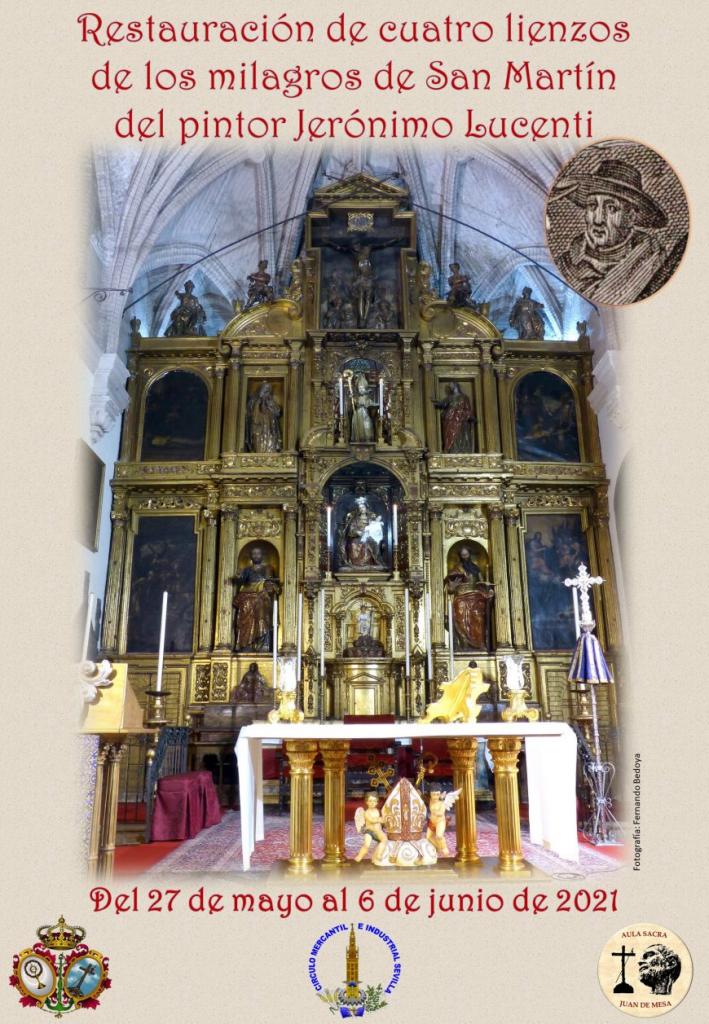"""Exposición """"Restauración de cuatro lienzos de los milagros de San Martín del pintor Jerónimo Lucenti"""""""