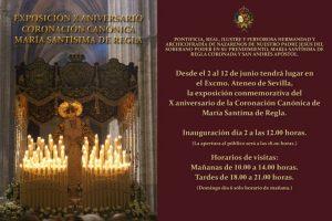 """Exposición """"X Aniversario de la Coronación de María Santísima de Regla"""""""