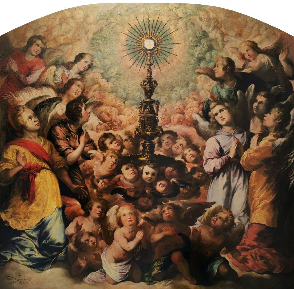 """Exposición del cuadro de Francisco Herrera """"El Viejo"""": """"Exaltación de la Eucaristía"""""""